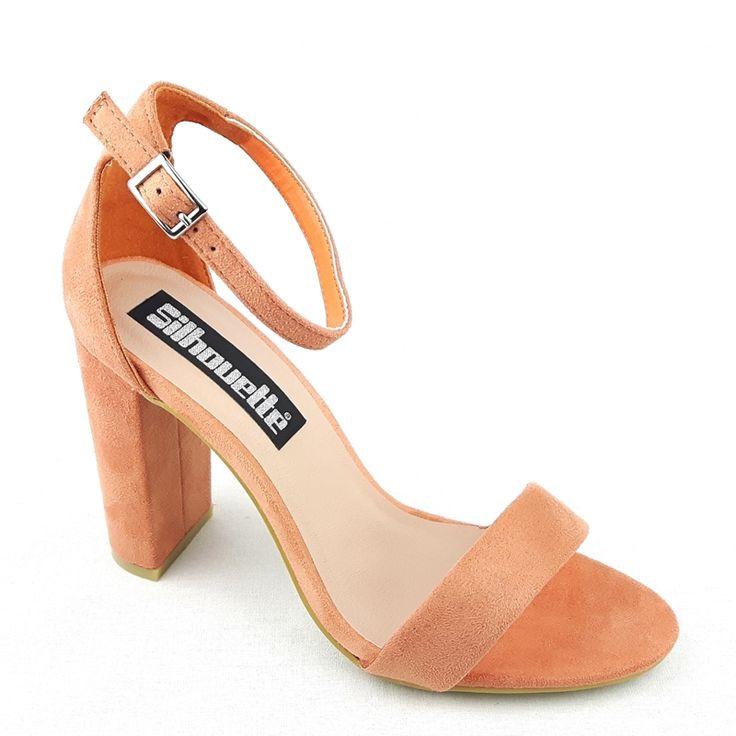 Simpele sandaaltjes met een smal bandje voor en een brede hak shop je bij jouw favoriete online schoenenwinkel met alleen maar hoge hakken