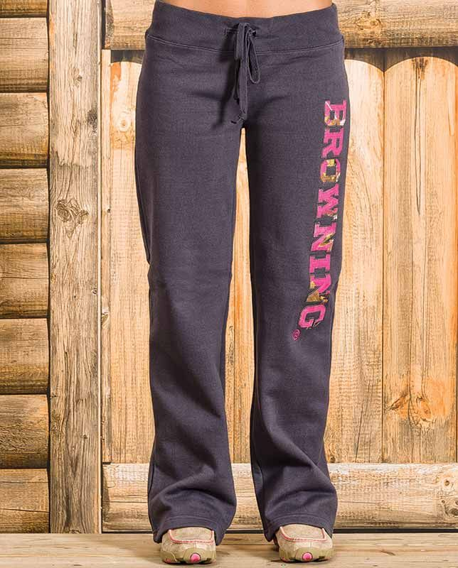 Browning Women's Grey Realtree AP Pink Camo Sweatpants