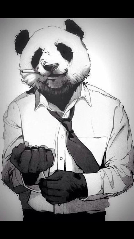 Картинки на аву маска панды на человеке