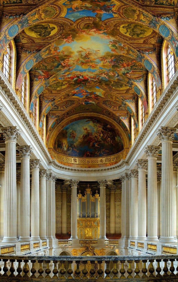 Interior of Chapel - Versailles, Paris