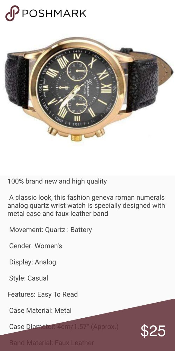 💖💖Black watch💖💖 brand new Last one Nice black watch stainless steel    Price firm unless 3 items bundled  3 items bundled = 10% off Accessories Watches