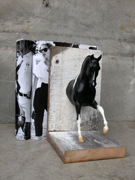 EQUINE COLLECTION Warmblut Pferd Buchstütze in von EQUINEbyLauren Schöne Ordnung für Bücher