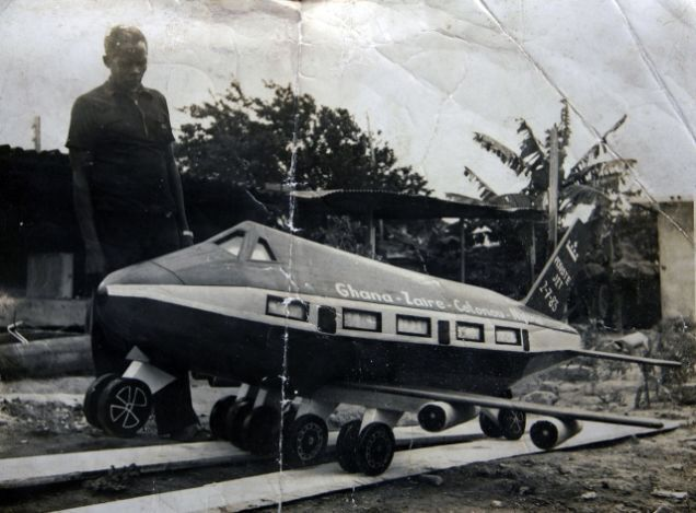 The first figurative coffin of Ghana, made by Kane Kwei in the 1950s for his grandmother