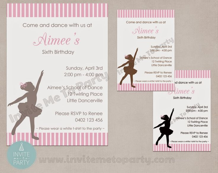 Invite Me To Party: Ballerina Party Invitation / Little Dancer Invitation Printable