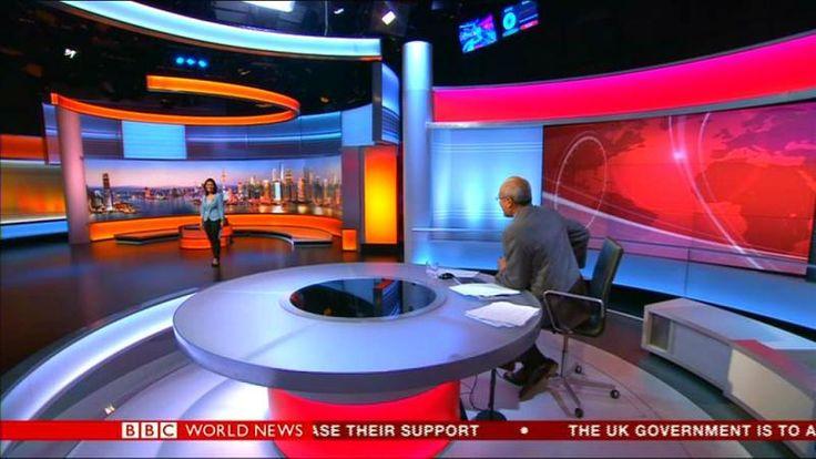 Bbc world news by dimitar hristov on tv sudio new world