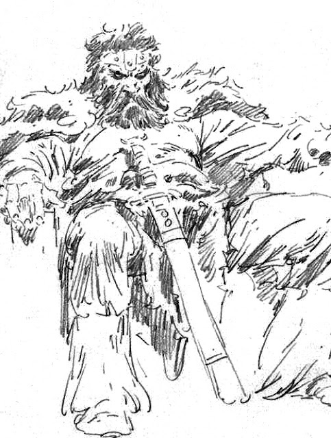 john buscema sketch-something about the way this guy draws characters entrenched in their chairs…fantastic stuff!
