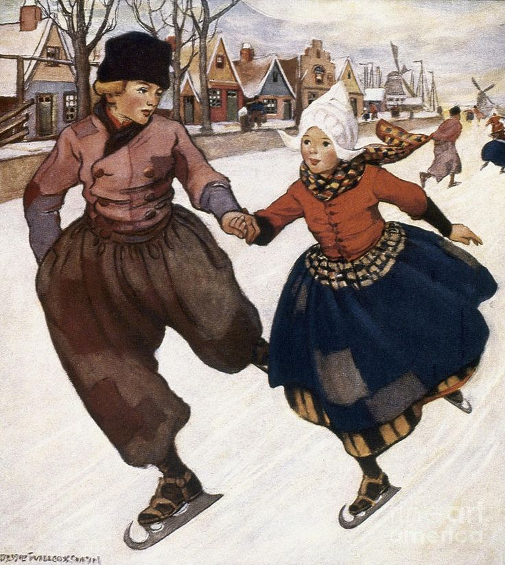 Jessie Wilcox Smith illustration from Hans Brinker or The Silver Skates novel by Mary Mapes Dodge