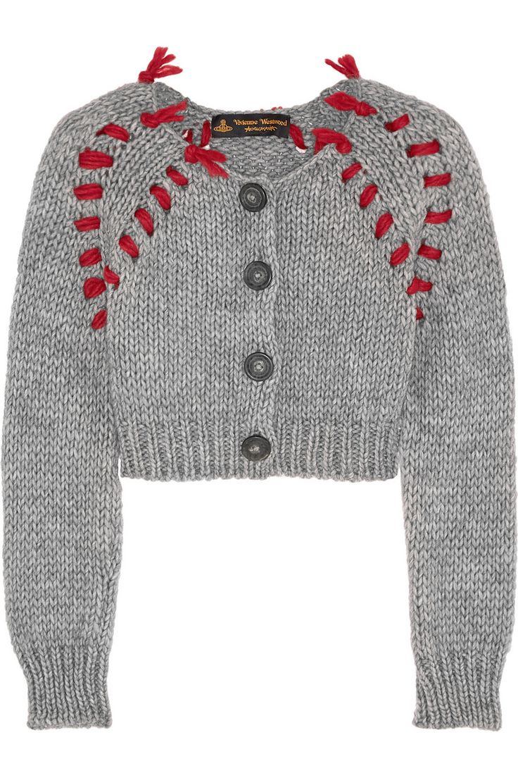Vivienne Westwood Anglomania|Frankenstein cropped chunky-knit cardigan|NET-A-PORTER.COM