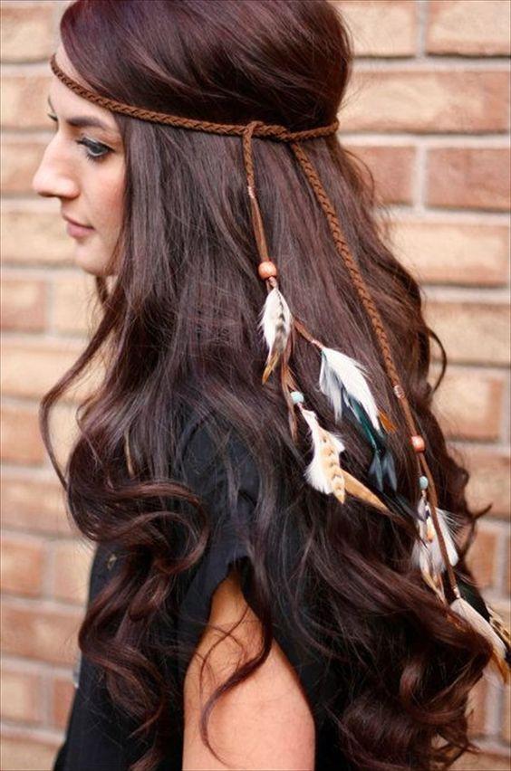Feder Stirnband zu Bekommen Statement Boho Look #Accessories
