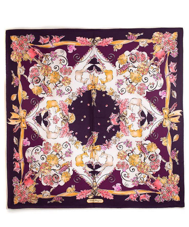 ferragamo silk scarves ferragamo silk scarf in purple