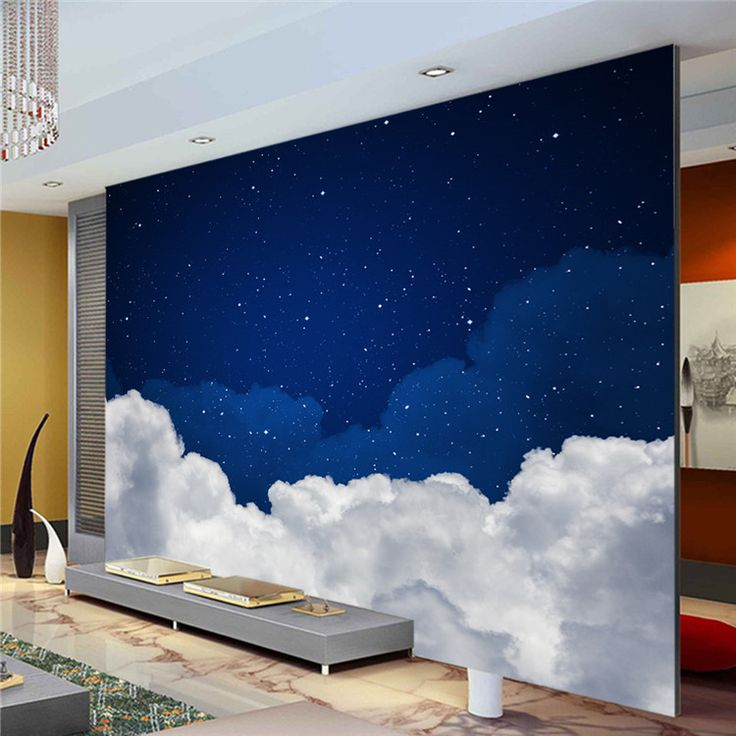 ... Buy Quality Custom 3d Directly From China Photo Wallpaper Suppliers:  Night Sky Photo Wallpaper Galaxy Wallpaper Custom 3D Clouds U0026 Stars Wall  Murals ... Part 82