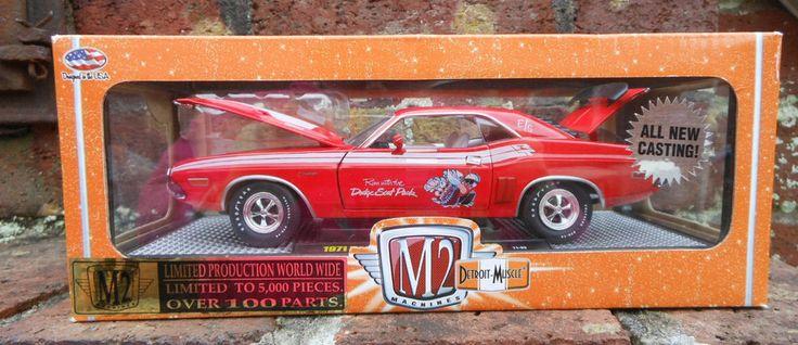 M2 Machines 1971 Dodge Challenger R/T 383 Run with Dodge Scat Pack Diecast Car #M2Machines # ...