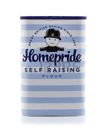 Swindon Reino Unido marzo 12 2014 La bolsa de HomePride Auto de harina con levadura sobre un fondo b Foto de archivo