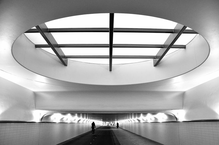 renate068:  tunnel of light. Rotterdam Central station