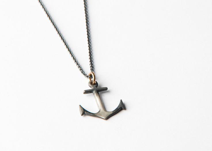 Anchor necklace with big anchor by Orri Finn design.