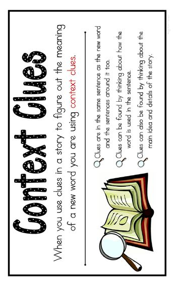 Context Clues Poster - I would definitely have this in my classroom when teaching context clues.