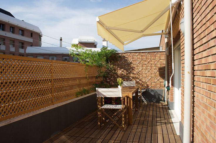 Celosia madera terraza terrazas y balcones pinterest for Balcones madera exterior