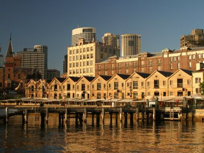 The Rocks Sydney; originally the penal colony for the prisoners brought from England...now a very trendy night spot!