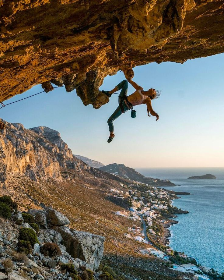 Via @chrisburkard | As the light starts fading in Kalymnos the temperature becomes bearable in the afternoon Sun. Trade-winds pick up, sweat dries and for a very brief moment the climbing looks effortless. .  @rannveigaamodt  @prana