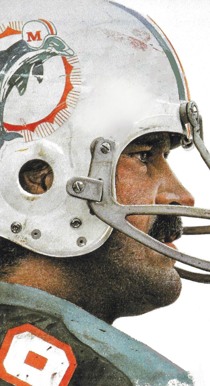 Larry Csonka, Miami Dolphins by Merv Corning