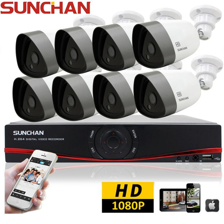 SUNCHAN 8CH HD Outdoor Security CCTV System 8 1080P AHD Camera 2.0Megapixel Night Vision HDMI DVR Home Surveillance CCTV Kits,High Quality dvr cctv kit,China kit dvr 4ch Suppliers, Cheap dvr smart from YES Development Co.,Ltd on Aliexpress.com