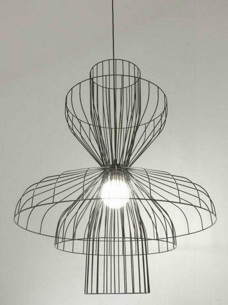 lámpara industrial alambre acero