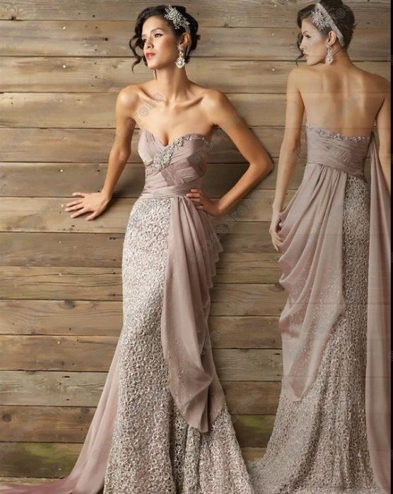 Tan light brown unique styled prom dresses 2013 unique for Brown lace wedding dress