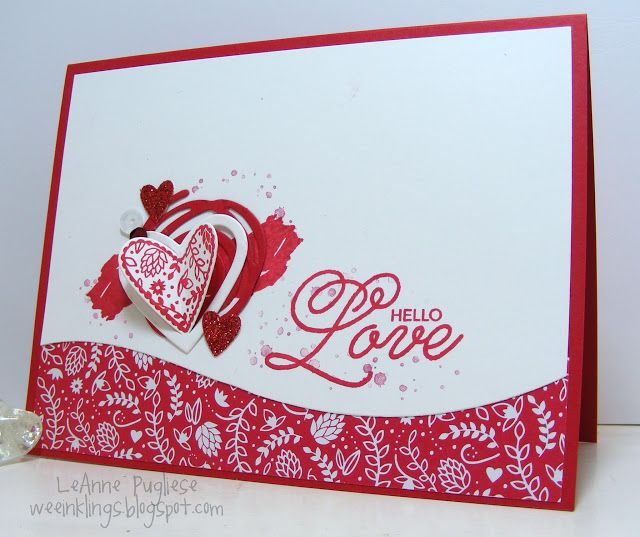 416 best images about Stampin up Valentines – Pretty Valentine Cards