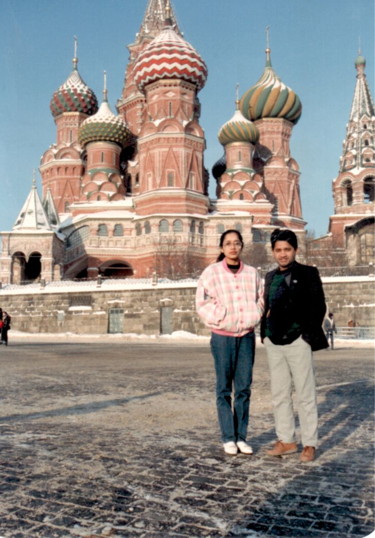 At Kremlin, Moscow, Russia with my wife