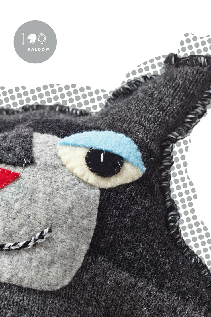 Funny and boisterous coddle toys made from felted sweaters.