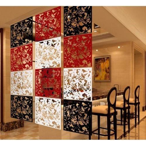 4x-Modern-Aufhaengen-Bildschirm-Trennwand-Raumteiler-Wand-Aufkleber-Dekor