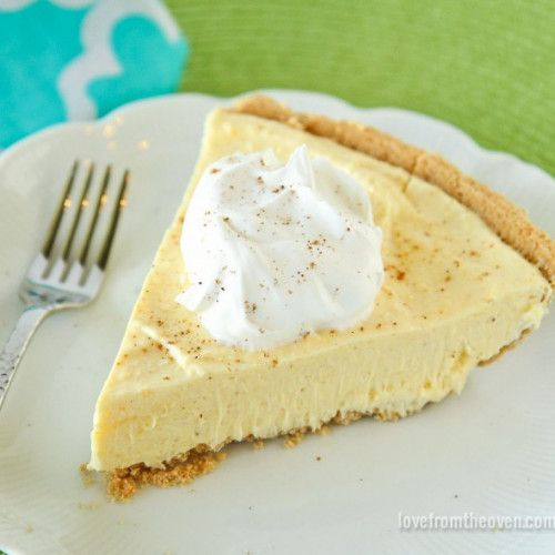 This delicious and easy eggnog pie is sure to be a hit with the eggnog lovers in your family this holiday season!