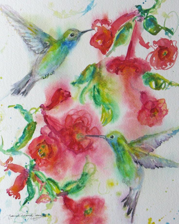 how to make watercolour fuschia