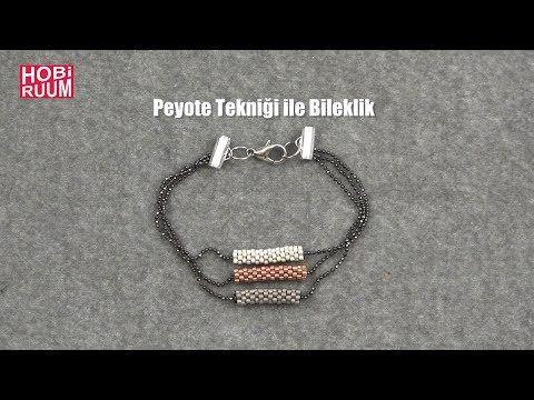 Peyote Tekniği ile Bileklik Yapımı - YouTube