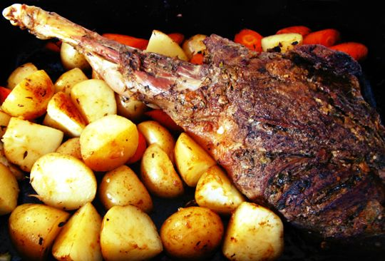 Linno-Yum: Slow-Roasted Goat Leg
