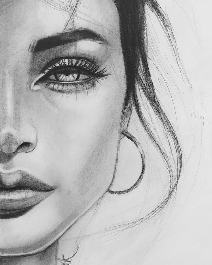 Картинки рисовать девушки лица