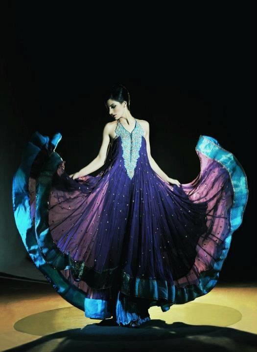 Latest Stylish Pakistani Party Wear & Wedding Frocks 2013 for Girls