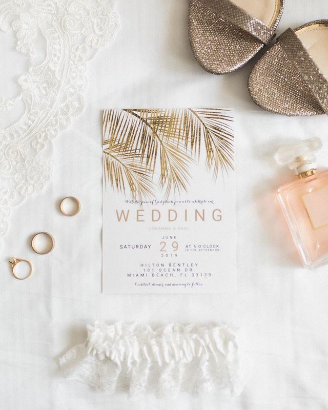 Classy Beach Wedding Day Flat Lay In Miami Beach Florida Flatlay Weddinginvitation Weddinginsp Florida Wedding Photographer Wedding Invitations Wedding Day