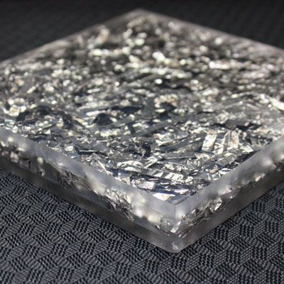 Shredded Aluminum Acrylic Art Epoxy Resin Acrylic