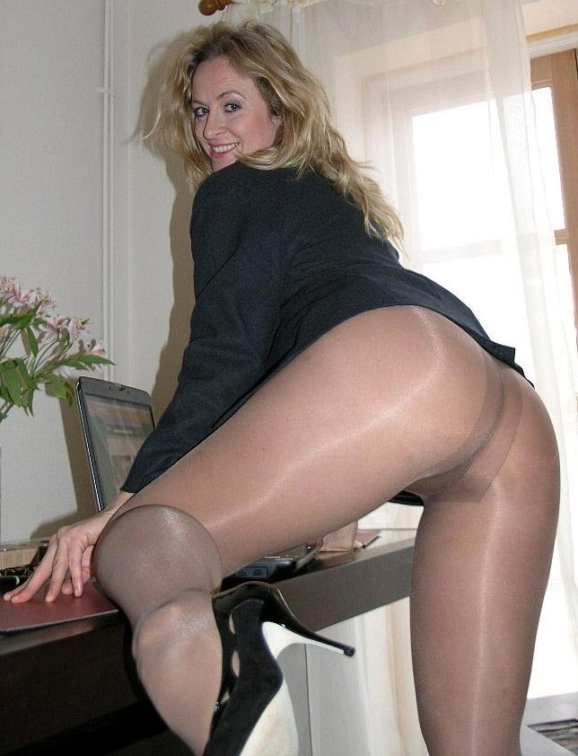 Behind Pantyhose Tights 10