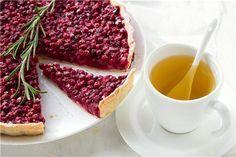 тарт с брусникой, тарт с ягодами, брусничный тарт, пирог с ягодами, пирог с брусникой, брусника, выпечка с брусникой,