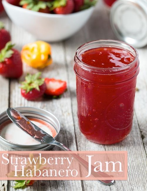 Strawberry Habanero Jam. Who knew making jam was so easy? It's simple to make and has a perfect balance of sweet and spicy flavors.