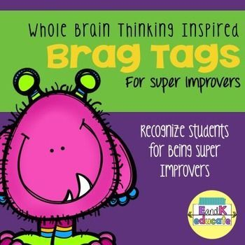 WBT Super Improver Brag Tags! These brag tags are perfect for anyone who is using Whole Brain Teaching. As children move on the WBT Super Improvers Wall, recognize their achievements with a Brag Tag.   This pack includes two versions, one with color and o