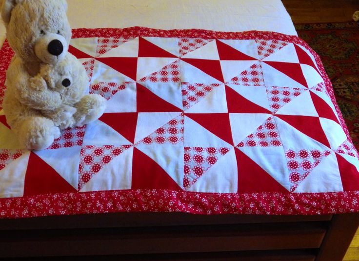 Patchwork quilt baby blanket by textileQadore on Etsy