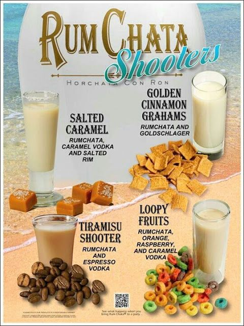 Rumchata Shooters! We use loopy vodka - way better that way
