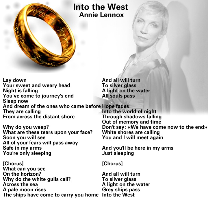 Into the West - Annie Lennox - I choke back tears with this song!