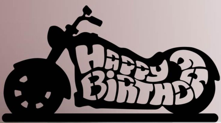 Happy birthday motorcycle