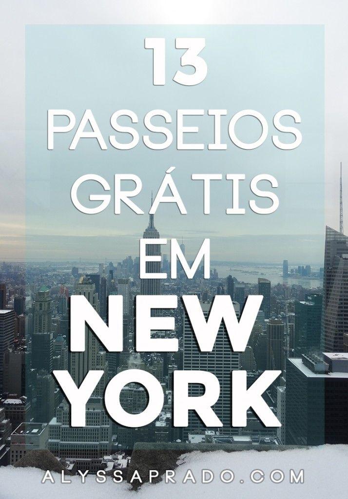 Quer aproveitar sua viagem sem gastar muito? Então clique aqui e descubra 13 passeios grátis em New York!