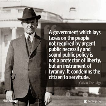 Proud #Coolidge Conservative here. The power to tax is the power to destroy.