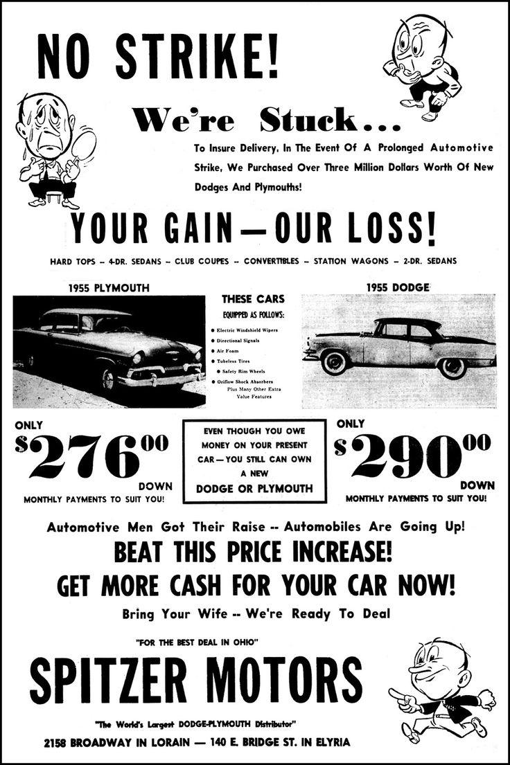 1955 Spitzer Motors, Dodge Plymouth Dealership, Elyria